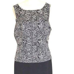 Donna Morgan Black & White Cocktail Dress Size 10